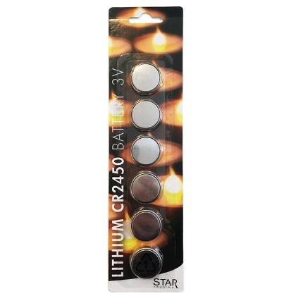 Batteri CR2450, 6-pack