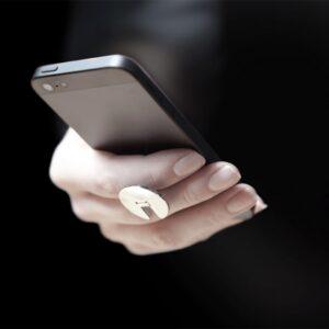 Hopfällbar mobilhållare