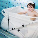 Hopfällbart badkar