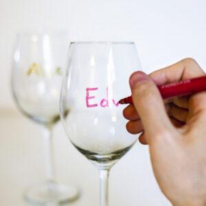 Märkpennor för glas