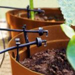 Solcellsdriven trädgårdsbevattning