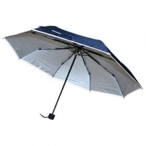 Paraply med reflexkant