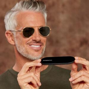 Solglasögon med platt fodral, ThinOptics