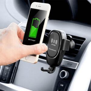 Mobilhållare till bilen med QI-laddning