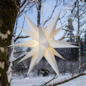 Batteridriven julstjärna 3D för utomhusbruk