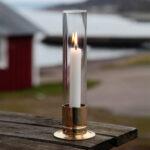 Ljusstake med stormglas