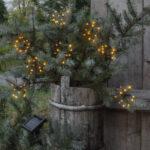 Solcellsladdad ljusslinga, fyrverkeri