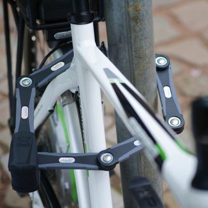 Vikbart cykellås